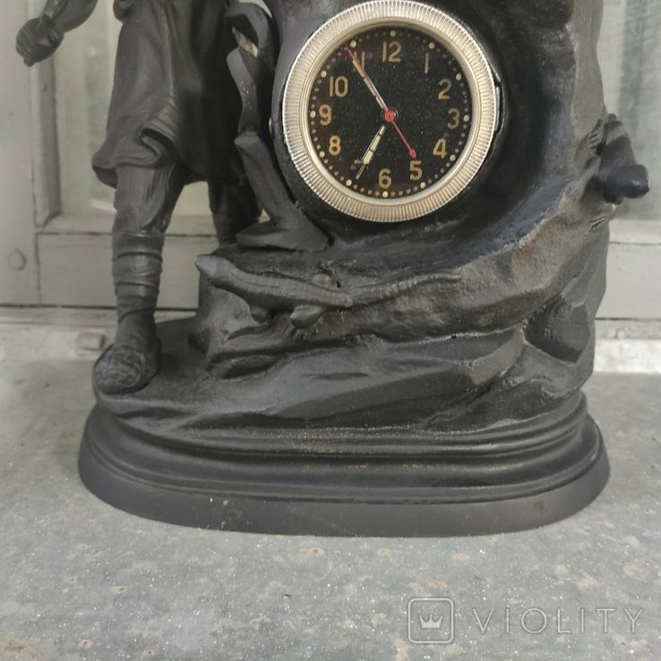 Хозяйка медной горы,Данила-мастер статуэтка ,каминные часы, чугун, фото №6