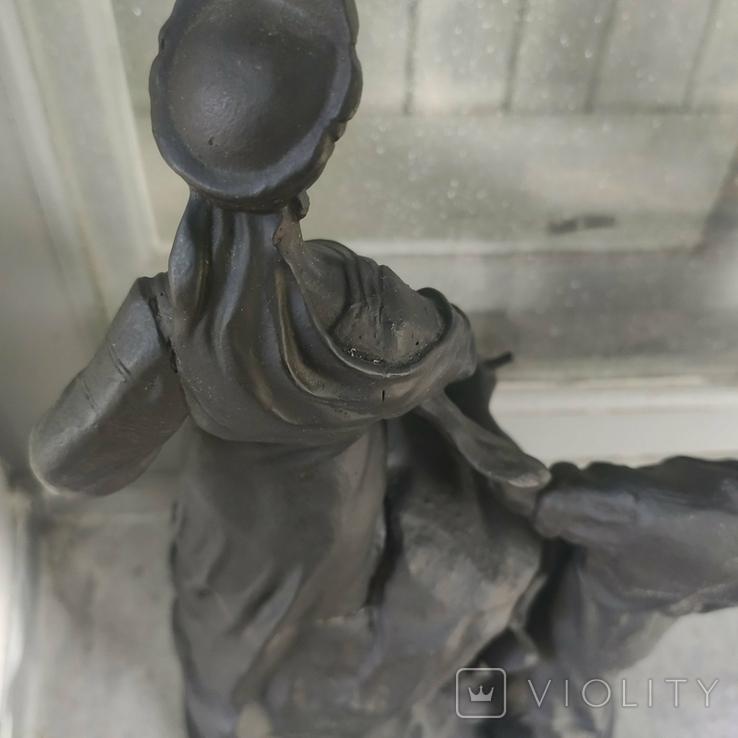 Хозяйка медной горы,Данила-мастер статуэтка ,каминные часы, чугун, фото №8