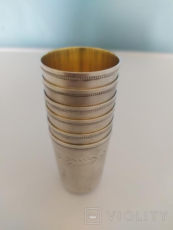 Набор серебряных стопок, фото №3