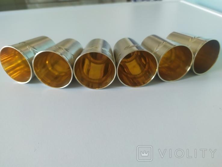 Набор серебряных стопок, фото №7