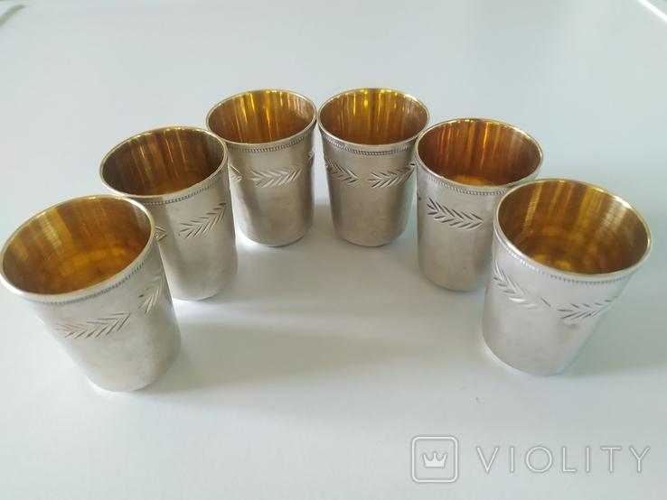 Набор серебряных стопок, фото №13