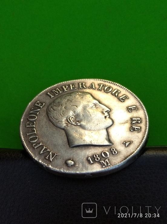 5 лир 1808 год Наполеон, фото №5