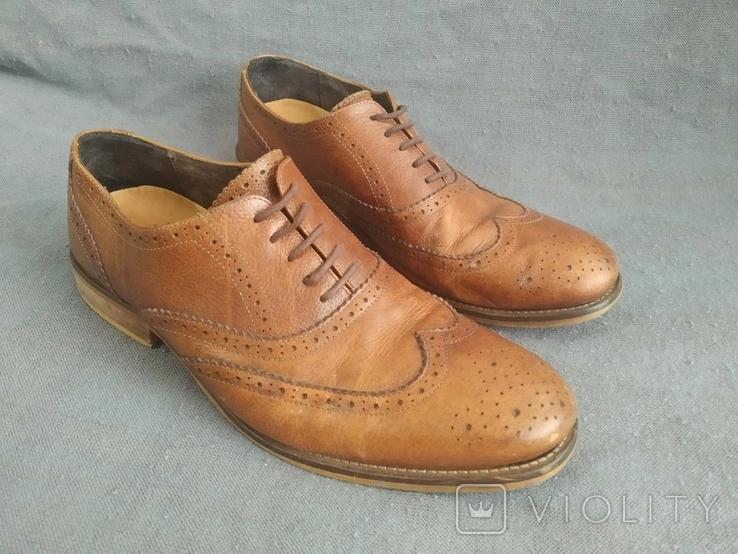 Туфли кожаные Clarks Португалия Инспектор 43 Кожа Ботинки, фото №2