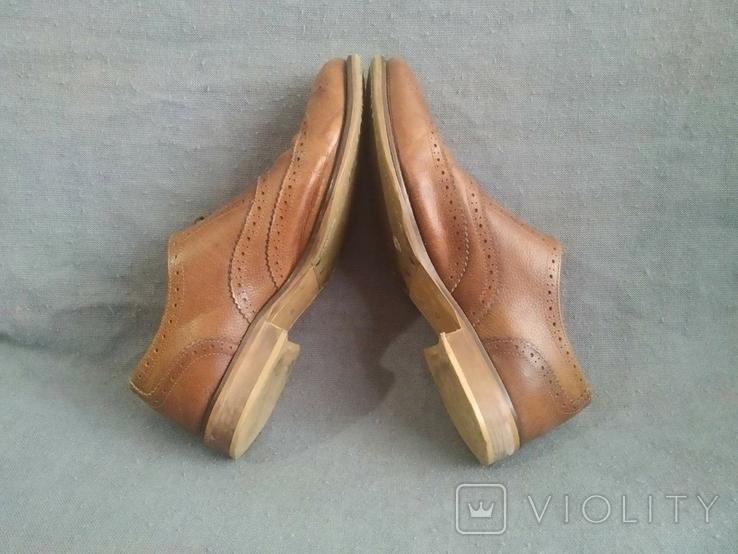 Туфли кожаные Clarks Португалия Инспектор 43 Кожа Ботинки, фото №7