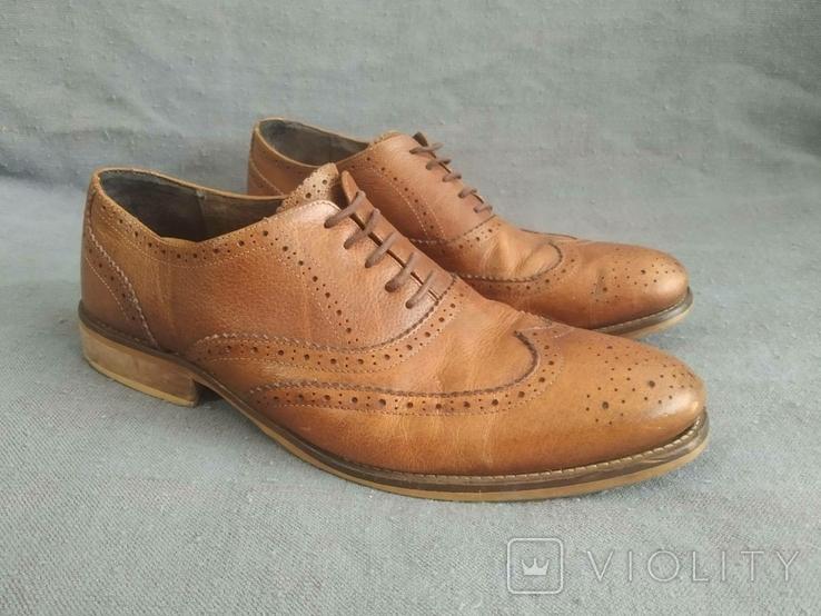 Туфли кожаные Clarks Португалия Инспектор 43 Кожа Ботинки, фото №8