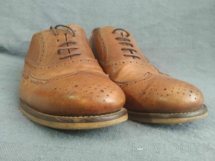 Туфли кожаные Clarks Португалия Инспектор 43 Кожа Ботинки, фото №10