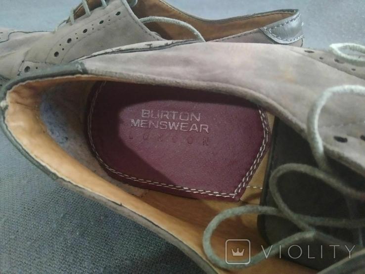 Туфли мужские, серые Burton Menswear London 41 размер., фото №4