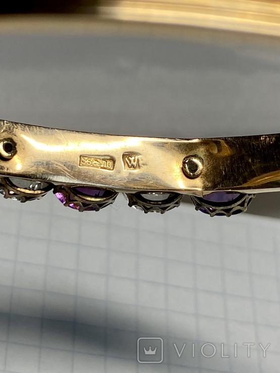 Золотой браслет 56 пробы, фото №12