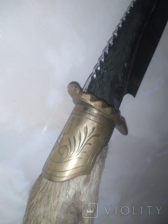 Нож Козья Ножка подкова чехол, фото №6