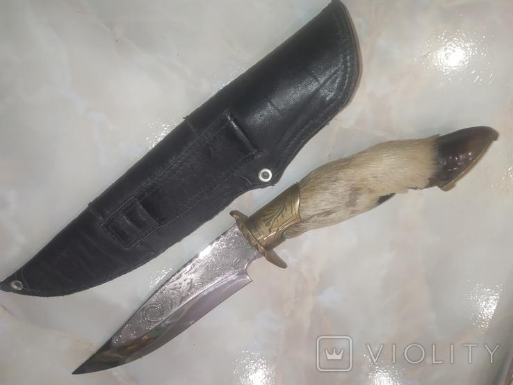 Нож Козья Ножка подкова чехол, фото №10