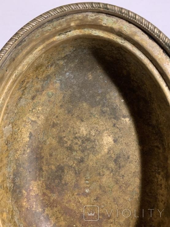 Глубокое блюдо/салатница посеребрённая, фото №5