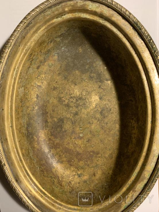 Глубокое блюдо/салатница посеребрённая, фото №6