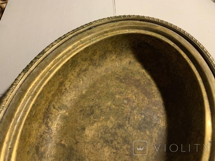 Глубокое блюдо/салатница посеребрённая, фото №8