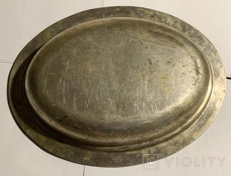 Глубокое блюдо/салатница посеребрённая, фото №10