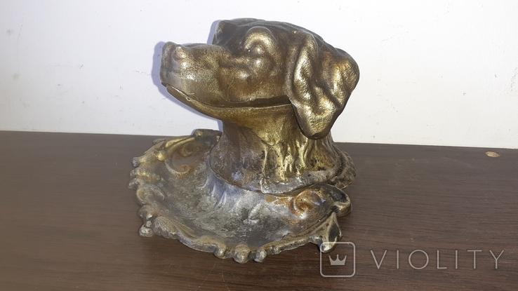 Пепельница Сеттер. Голова собаки, фото №2