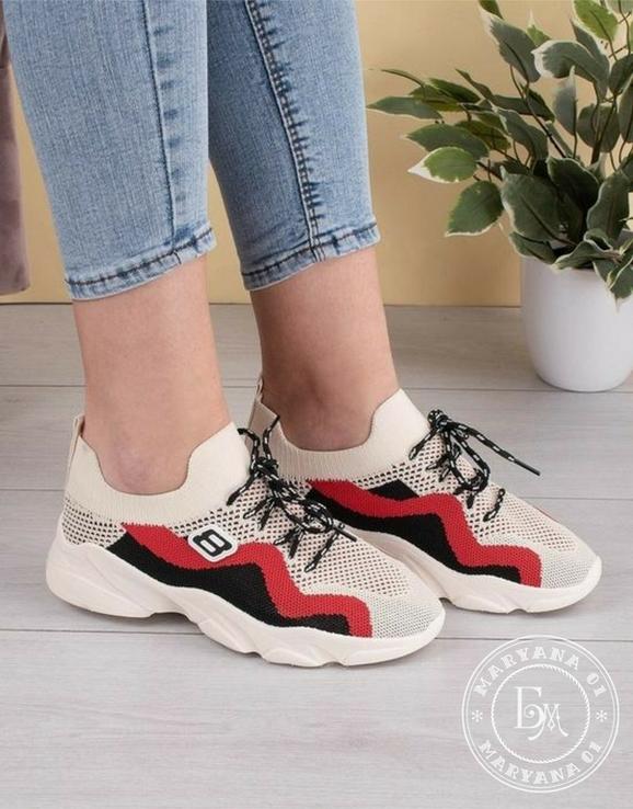 Яркие летние кроссовки / бежевые 37 размер, фото №6