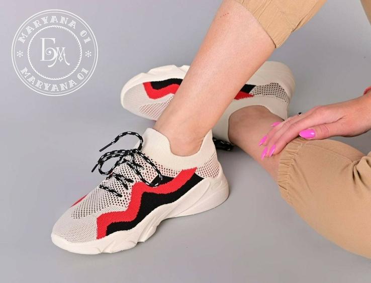 Яркие летние кроссовки / бежевые 37 размер, фото №7