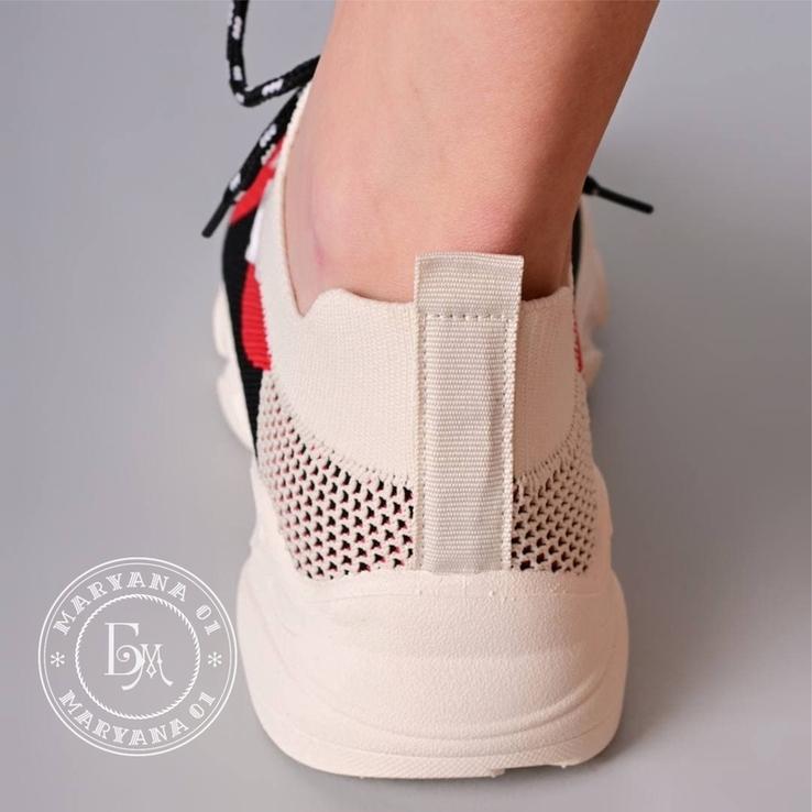 Яркие летние кроссовки / бежевые 37 размер, фото №8