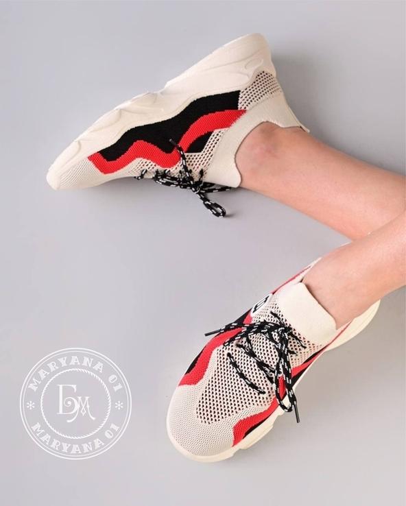 Яркие летние кроссовки / бежевые 37 размер, фото №10