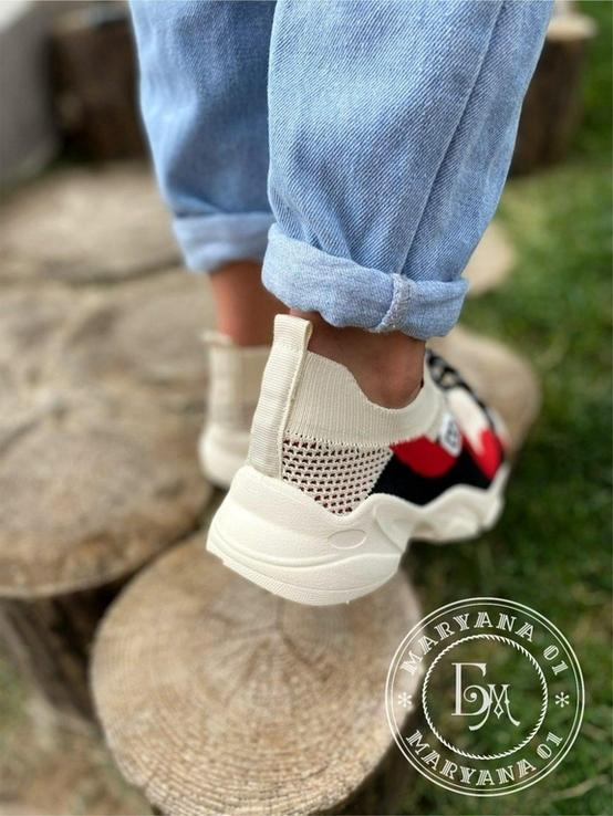 Яркие летние кроссовки / бежевые 37 размер, фото №12