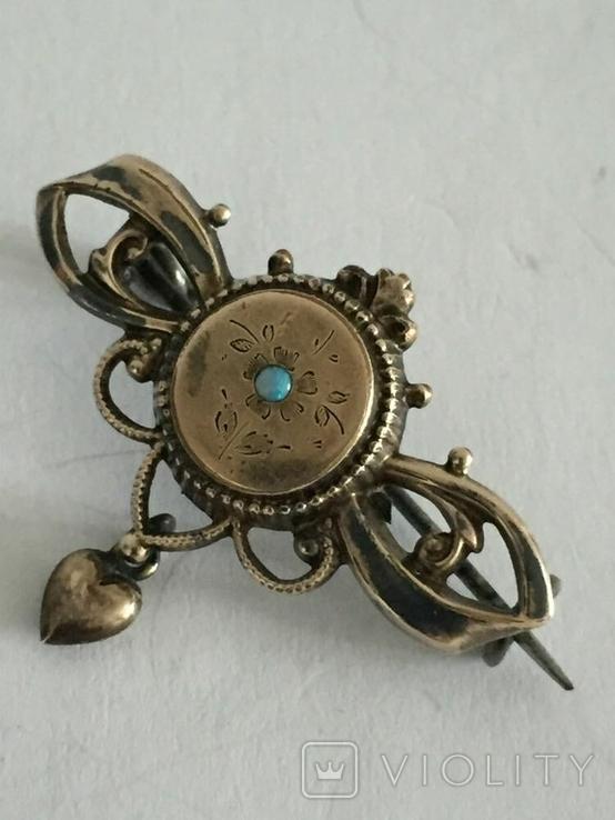 Брошь Золото Doublе с опалом, фото №2