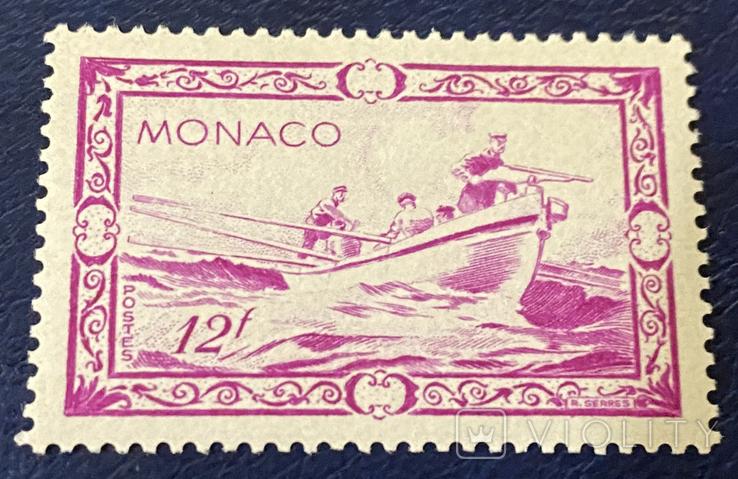 1949. Монако. Пейзаж. Охота на китов