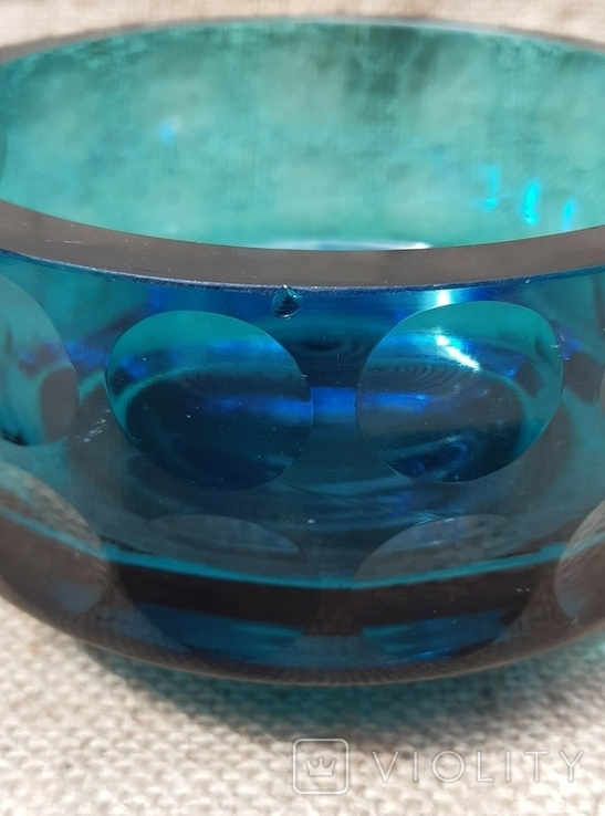 Ваза кашпо толстое шлифованное стекло, фото №5