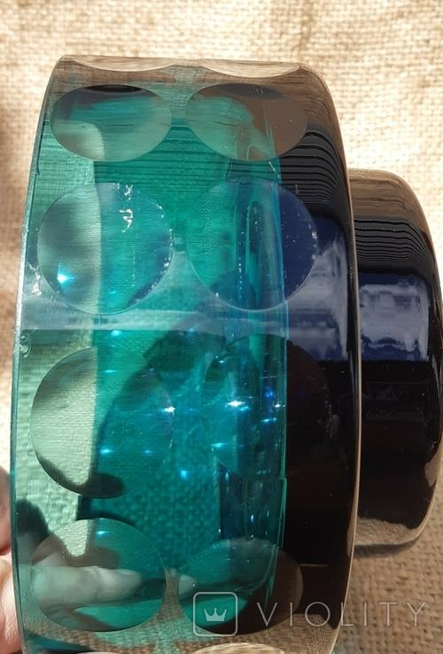 Ваза кашпо толстое шлифованное стекло, фото №8