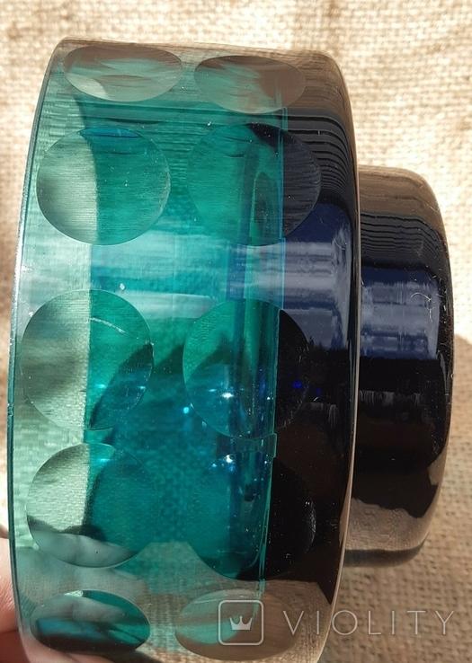 Ваза кашпо толстое шлифованное стекло, фото №9