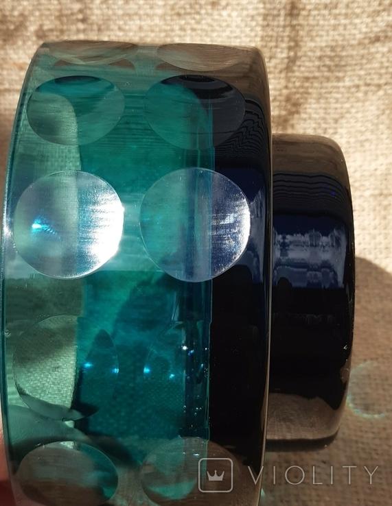 Ваза кашпо толстое шлифованное стекло, фото №10