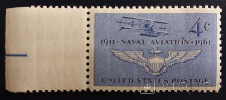 США 1961 г., Авиация, Curtiss A-1, MNH