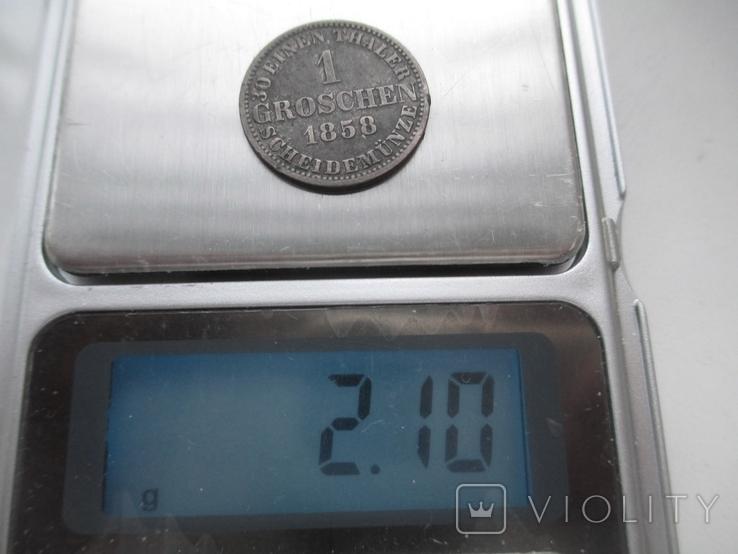 1 грош - Ганновер -1858 год., фото №4