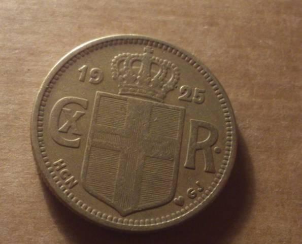 Исландия 1925 год монета 2 кроны, фото №3