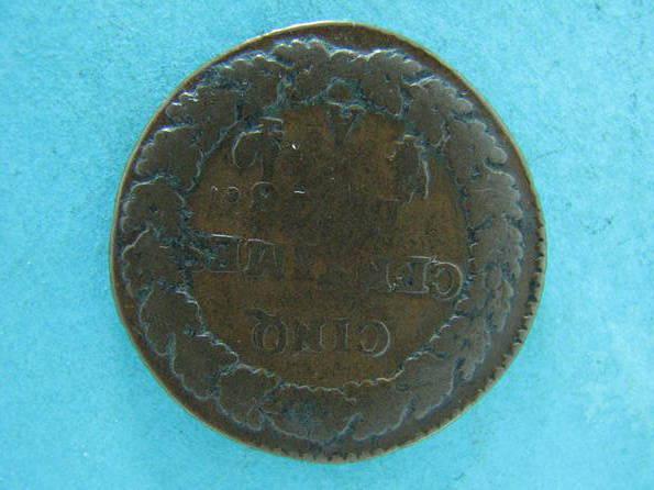 5 сантимов Франция Республика 8 год  1800г., фото №3