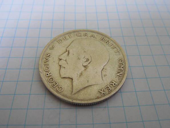 Пол кроны 1921г. Великобритания, фото №5