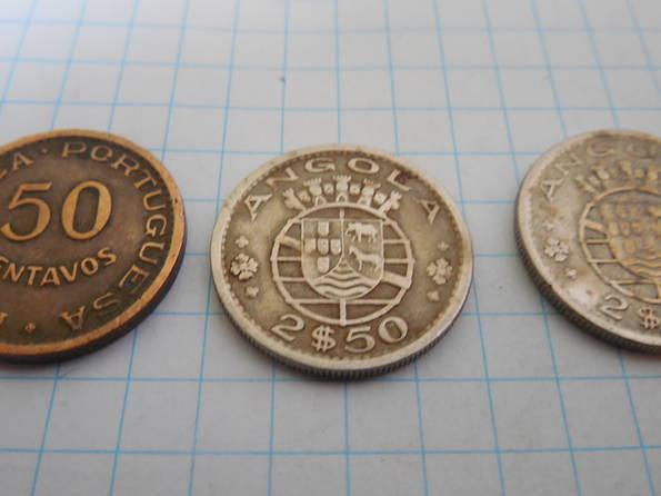 2-1/2 эскудо 1967г., 1974г., 50 сентаво 1958г. Ангола, фото №4