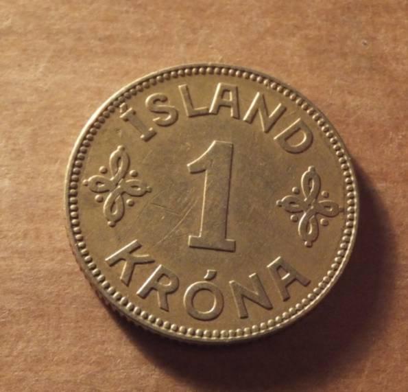 Исландия 1940 год монета 1 крона, фото №2