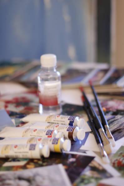 Полный набор жидкостей для масляной живописи