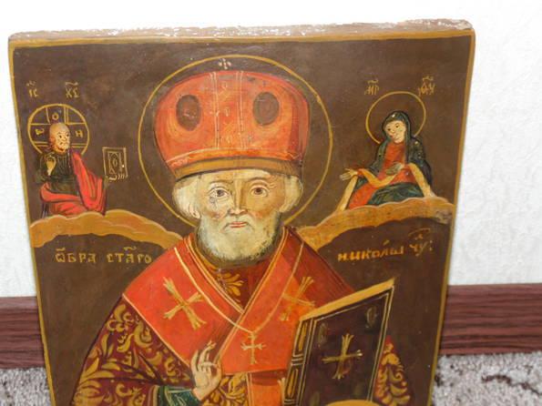 Икона Николай  розмір 22х26х1,5 см, фото №3