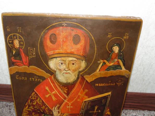 Икона Николай  розмір 22х26х1,5 см, фото №6