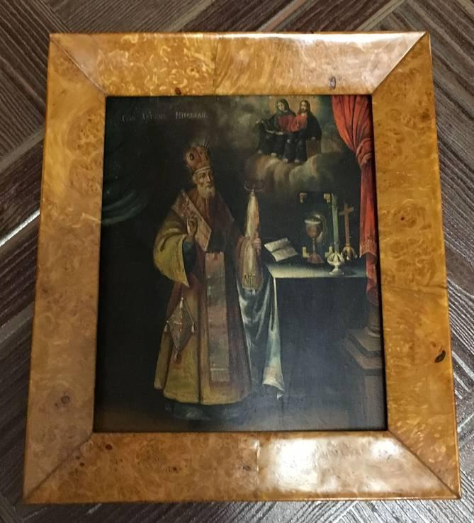 Икона Святого Николая. в киоте, фото №4