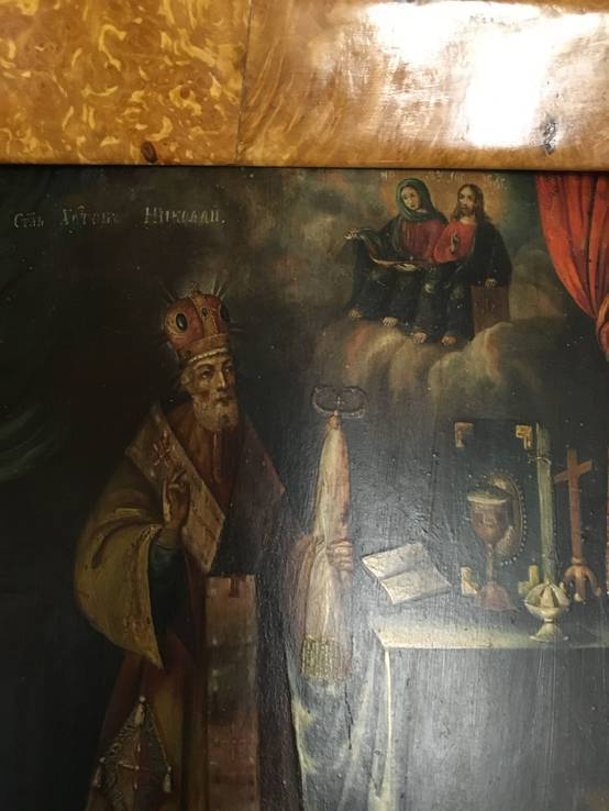 Икона Святого Николая. в киоте, фото №8