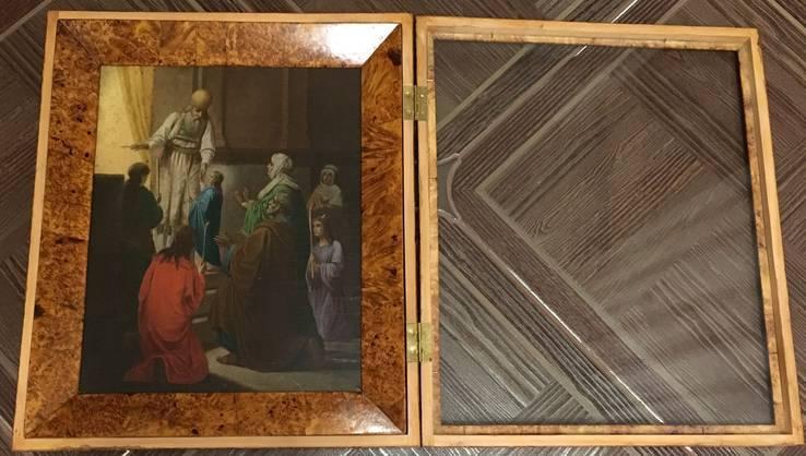 Икона Введение Пресвятой Богородицы в Храм. в киоте, фото №3