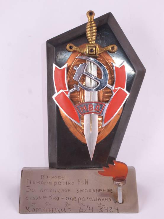 Настольный сувенир, знак МВД., фото №3