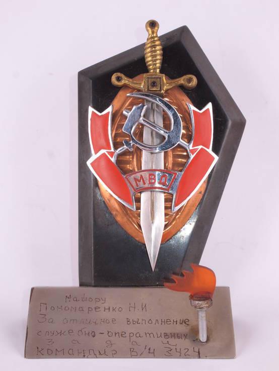 Настольный сувенир, знак МВД., фото №4