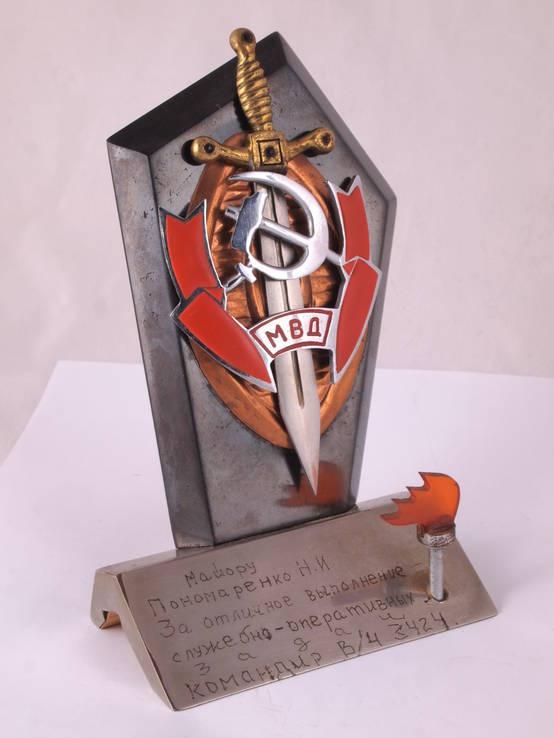 Настольный сувенир, знак МВД., фото №10