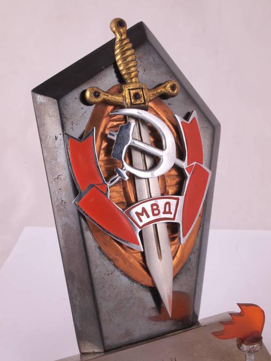 Настольный сувенир, знак МВД., фото №11