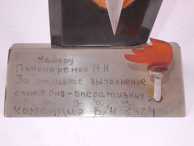 Настольный сувенир, знак МВД., фото №12