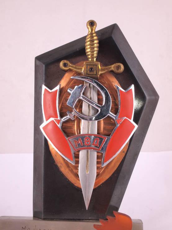 Настольный сувенир, знак МВД., фото №13