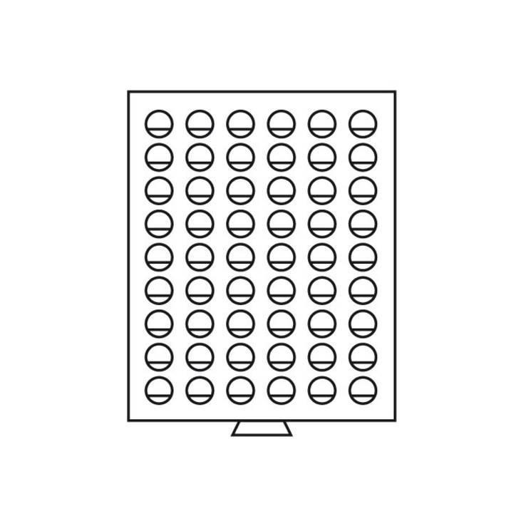 Бокс для монет деревянный для 54 монет номиналом 2 Euro (диаметр ячейки 26 мм), фото №4